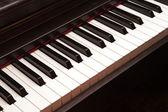 Closeup elektrické piano klávesnici — Stock fotografie