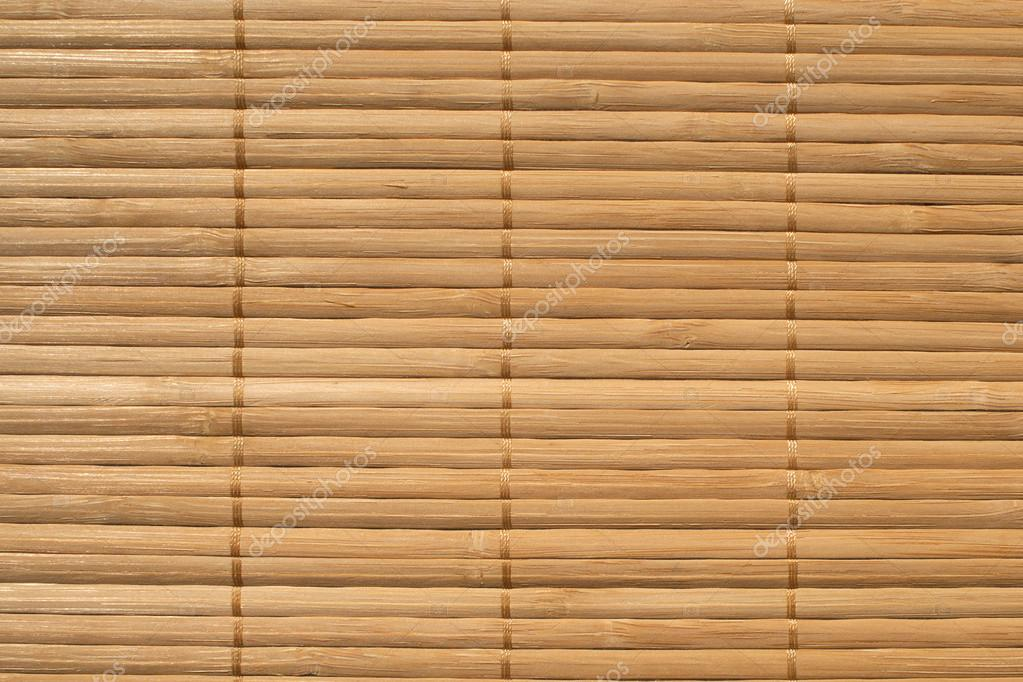 Brown straw mat background closeup — Stock Photo #12758627
