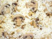 Rice with Champignon closeup — Stock Photo