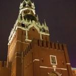 Spasskaya Tower of Moscow Kremlin view at night — Stock Photo