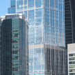 Office buildings on a city closeup — Stock Photo