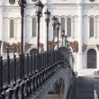 Cathedral, bridge and lanterns in Moscow — Стоковая фотография