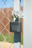 Blocco di metallo grigio closeup — Foto Stock