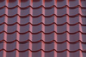 Red house roof closeup — Stock Photo