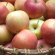 Apples in basket closeup — Foto Stock