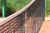 Tennis net closeup — Stock Photo
