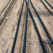 Stock Photo: Railroad tracks and switches