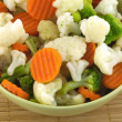Vegetables in bowl isolated closeup — Stockfoto #24786041