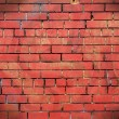 Red bricks wall as background — Stock Photo