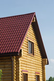 Top of country wooden house in retro style — Stock Photo