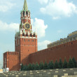 Spasskaya Tower and Kremlin wall in Moscow — Stock Photo