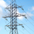 High-voltage power line metal tower — Stock Photo
