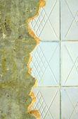 Ceramic tiling on repairing room wall — Fotografia Stock