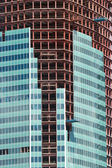 Mid section of multi-storey building constructing with close up — Stock Photo