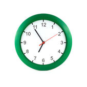 Five to seven on big wall clock — Stock Photo