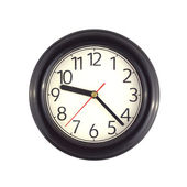 Wall clock isolated on white close up — Stock Photo