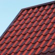 Red house roof closeup — Stock Photo #38267065