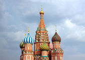 St. Basil's Cathedral on Red Square in Moscow Russia — Stock Photo