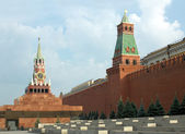 Red Square with Kremlin wall in Moscow Russia — Stockfoto