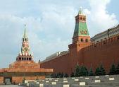 Piazza rossa con il cremlino a parete in russia a mosca — Foto Stock