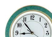 Nine o'clock on big wall watch isolated — Foto Stock