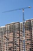 Hebemaschinen für Turmdrehkran von Bau-Gebäude — Stockfoto