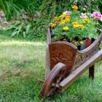 Garden wheelbarrow — Stock Photo