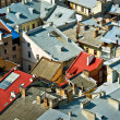 Cityscape rooftops — Stock Photo