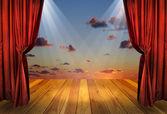 剧院舞台 — 图库照片