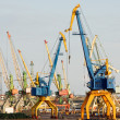 Stock Photo: Harbor cranes