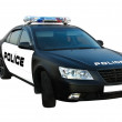 Police car isolated — Stock Photo