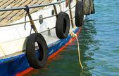 Motorboat at sea — Stock Photo