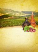 Wine list menu — Stock Photo