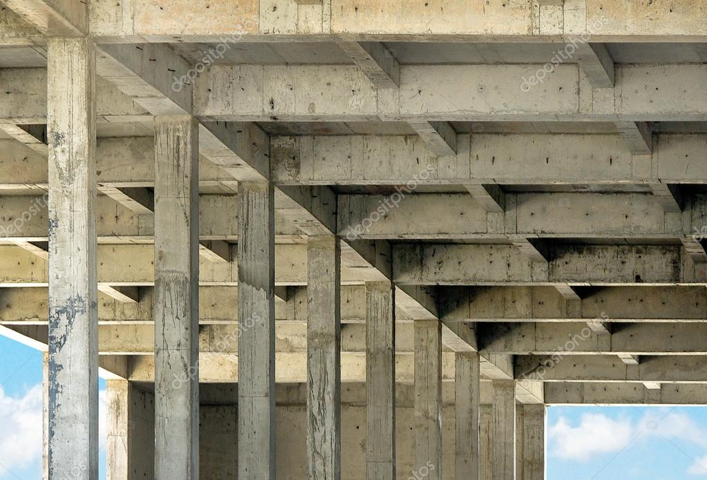Reinforced Concrete Structure Of Building Stock Photo