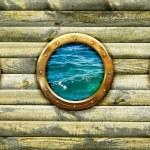 Ship porthole window — Stock Photo