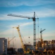 Industrial landscape with cranes — Stock Photo #32012387
