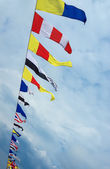 Colorful marine flags — Stock Photo
