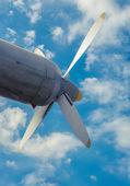 Airplane propeller — Stock Photo