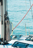 Sailboat with ropes — Stock Photo