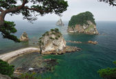 Beautiful landscape / seascape, Sea of Japan, Primorye, Russia, — Stock Photo