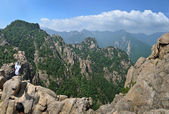 Mountain landscape, panorama of Seoraksan National Park, South K — Stock Photo