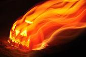 Halloween fire pumpkin — Stock Photo