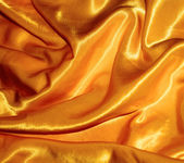 Golden silk, texture — Stock Photo