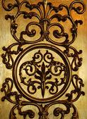 Parede decorativa dourada — Fotografia Stock