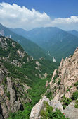 Vista panorâmica do parque nacional de seoraksan, coreia do sul — Foto Stock