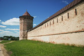 Old monastery wall, Golden Ring of Russia — Stock Photo