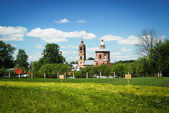 Old church, Golden Ring of Russia, country landscape — Stock Photo
