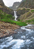 Changbai Waterfall, wild landscape — Stock Photo