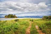 Caminho na praia, o mar do japão, primorye — Foto Stock