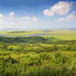Stock Photo: Meadow and coast, Seof Japan, Primorye, panorama